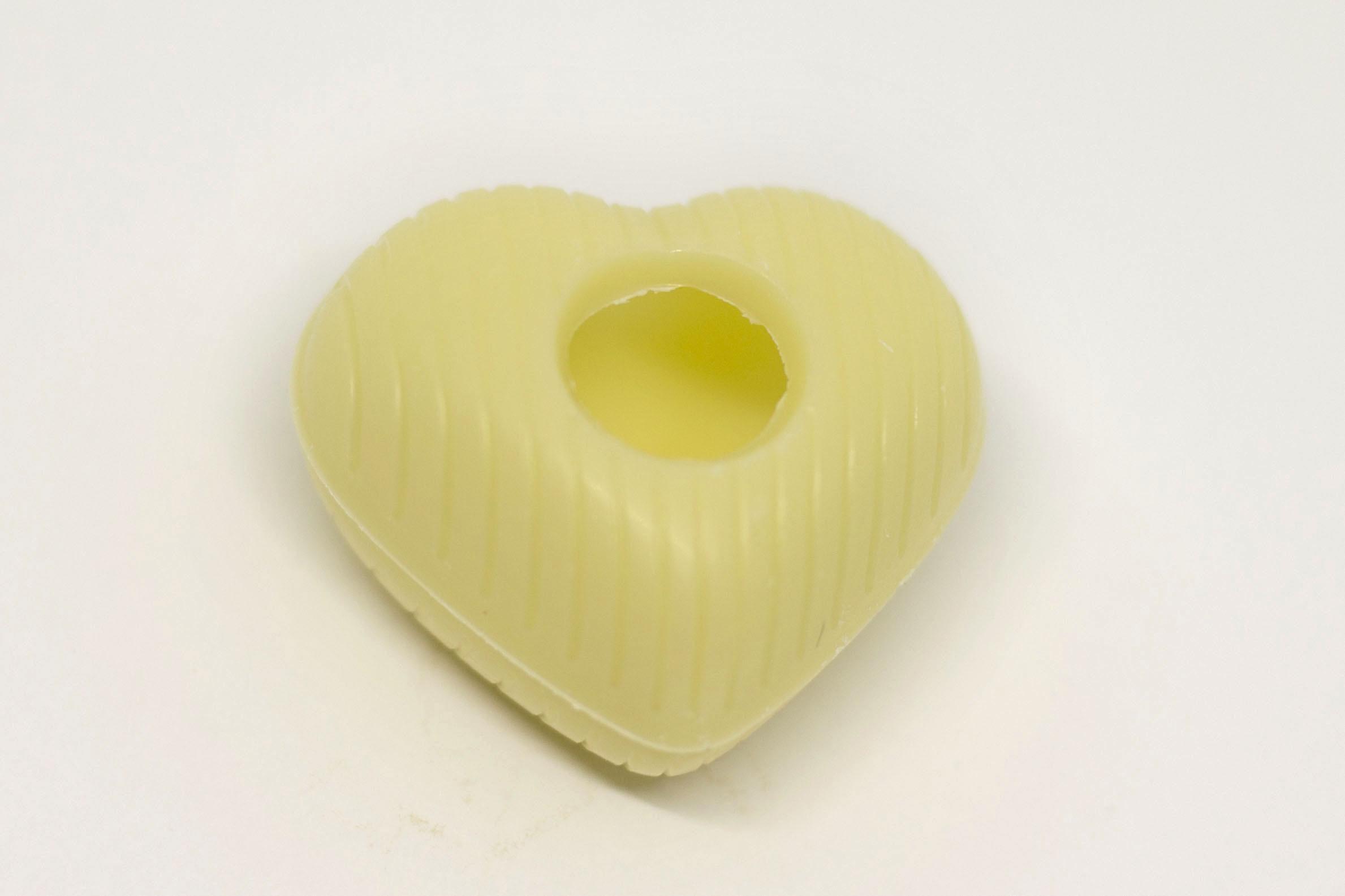 Chokolade hjerte Hvid
