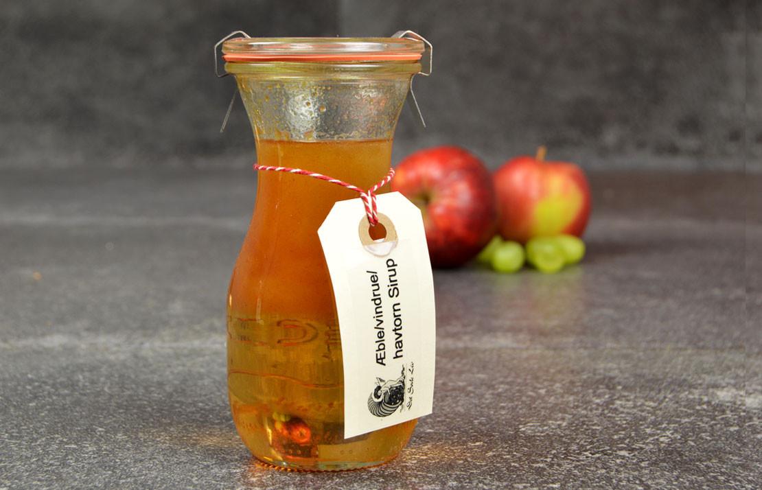 Æble og havtorne sirup
