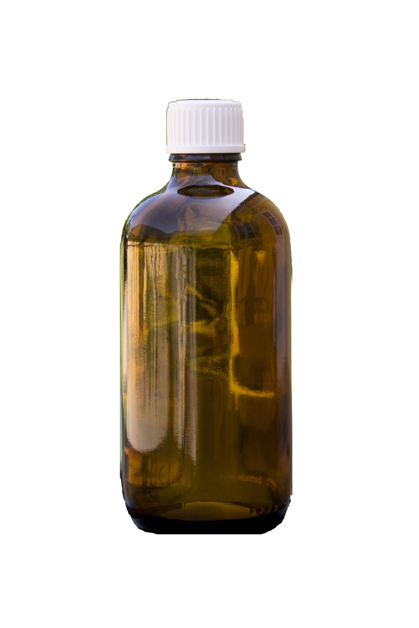 Brun flaske, 100 ml med låg