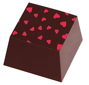 Spiselige hjerter til pynt på chokolade