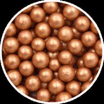 Bronce sukkerperler 8 mm