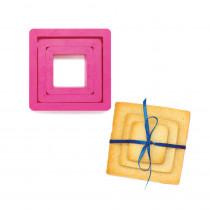Udstikker med 3 stk. firkantede