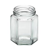 6 kantet glas til opbevaring af syltetøj, honning, marmelade m.m. Honning glassene er fødevaregodkendt.