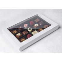 Hvid chokoladeæske med plads til 15 stk chokolade