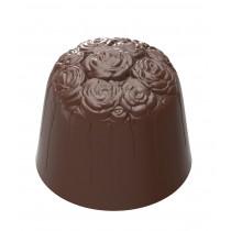Chokoladeform med rosenmotiv i toppen. 3-1932