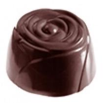 Chokoladeform i hård plast med 21 blomster