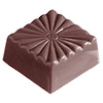 Firkantet chokoladeform med blomstermotiv
