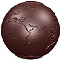 Halvrund chokoladeform i hård plast