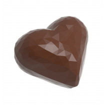 Proff. chokoladefor med facetslebet hjerter 1914
