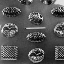 Form til bolcher og chokolade med forskellige motiver