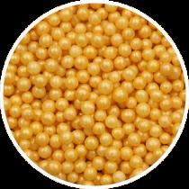 Guld sukkerperler 4 mm