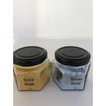 Guld og sølv dust til chokolade, kage m.m.