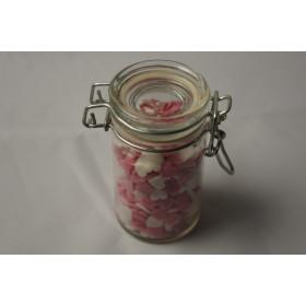 Sukkerhjerter - hvide og pinke
