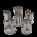 Udstiks forme med 6 dele i rustfri stål