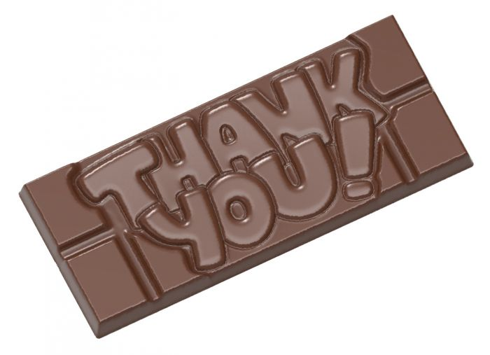 Thank you tekst på chokoladeform