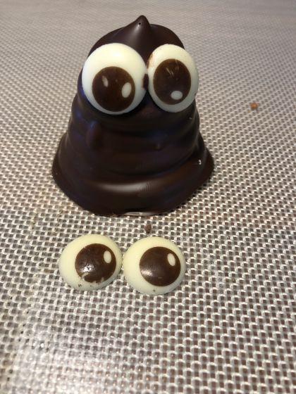Chokoladeøjne i luksus chokolade