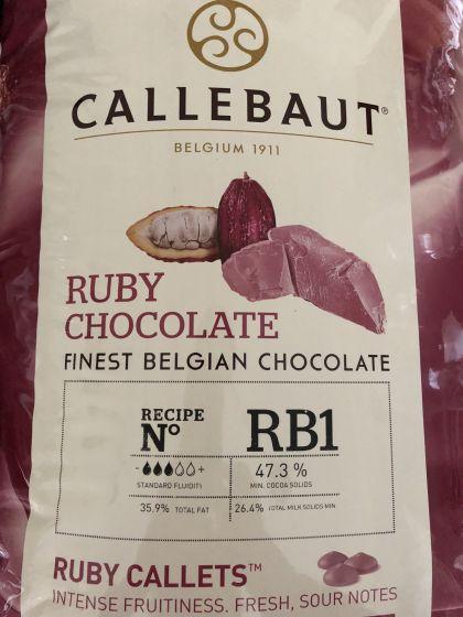 Callebaut RUBY chokolade, naturlig rubin cacaobønne