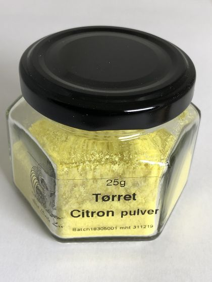 Citronpulver tørret citronskaller