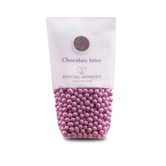 Chokoladeperler - lyserød