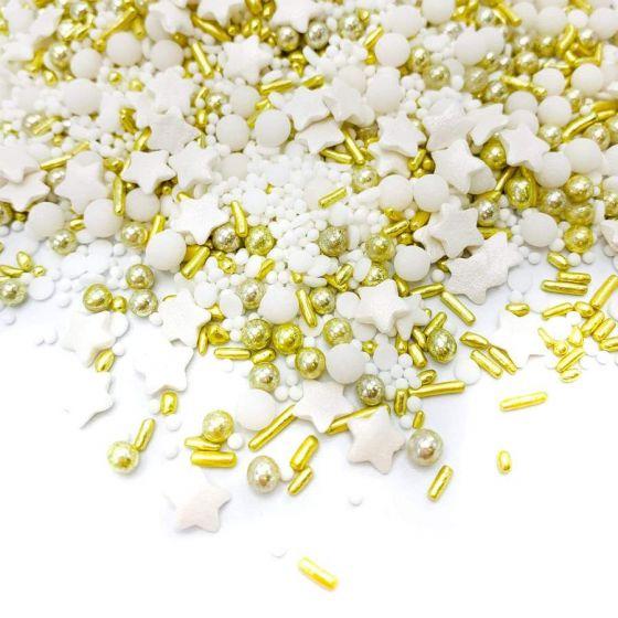 Happy springles hvid og guld