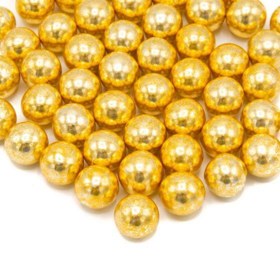Chokoladepynt i guld fra Happy sprinkles