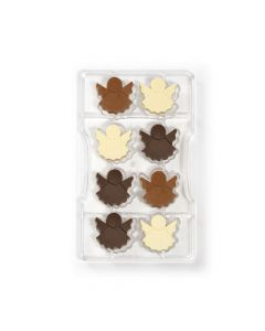 Chokoladeforme med plads til 8 engle