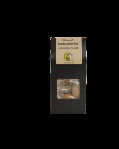 Håndlavede flødekarameller med nødder og salt (Siciliansk salt)