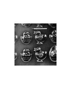 Plastikform med 15 påskemotiver