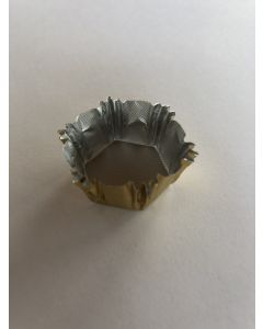 Guld folie til chokolader - 6 kantet