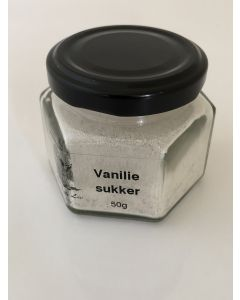 Ægte vanilie i økosukker