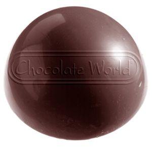 Chokoladeforme med plads til 6 halvkugler. Formen er europæisk, fremstille i 1. kvalitet polycarbonat.