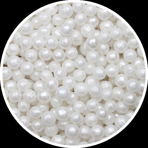 Perlemor sukkerperler 4 mm