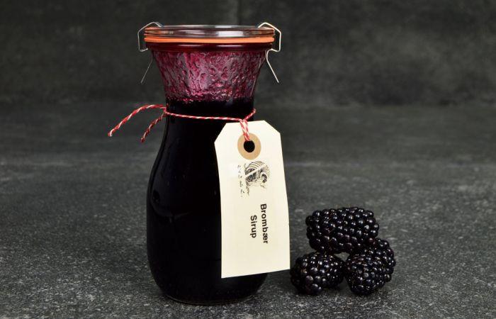 Billede af Brombær sirup fra Det Søde Liv