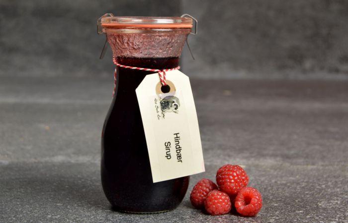 Hindbær sirup fra Det søde liv