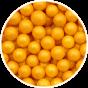 Guld sukkerperler 8 mm
